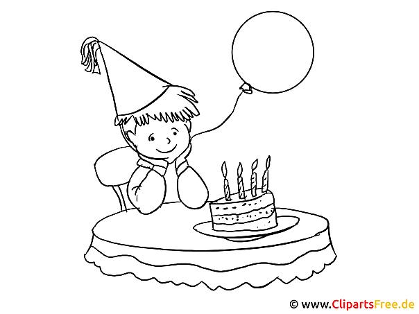 Malvorlage Geburtstag