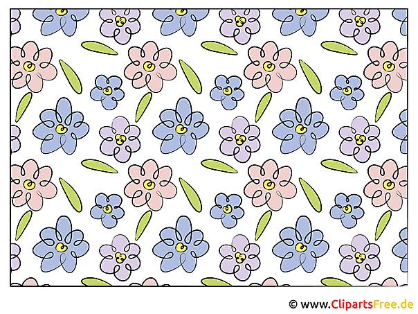 Blumenranken Clipart Bild Illustration Grafik Kostenlos