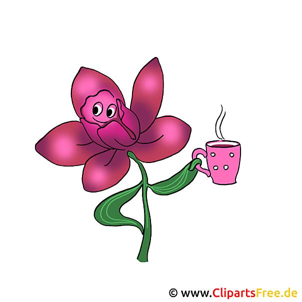 Cartoon bloem clipart gratis