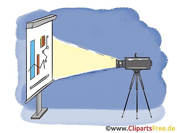 Beamer Clipart, Bild, Grafik, Cartoon gratis