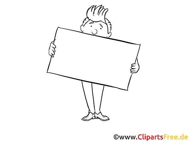 Bewerbung Clipart, Bild, Zeichnung, Cartoon