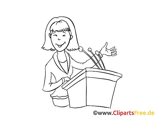 Blonde junge Frau Clipart, Bild, Zeichnung, Cartoon
