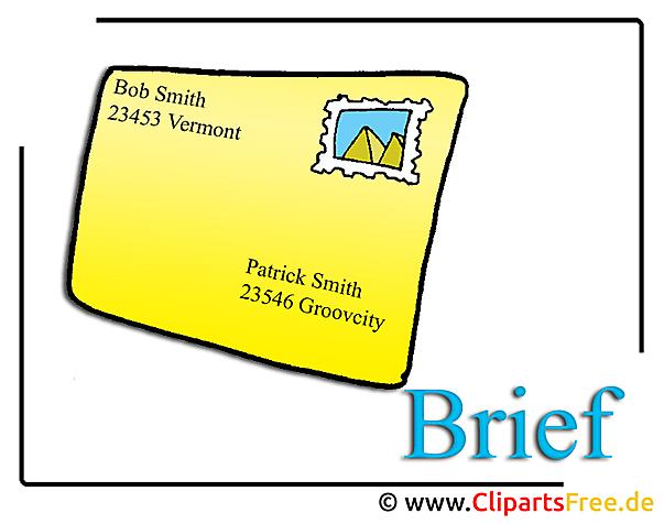 Brief Clipart-Bild Office