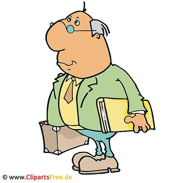 Buchhalter Clipart, Bild, Cartoon, Grafik, Illustration