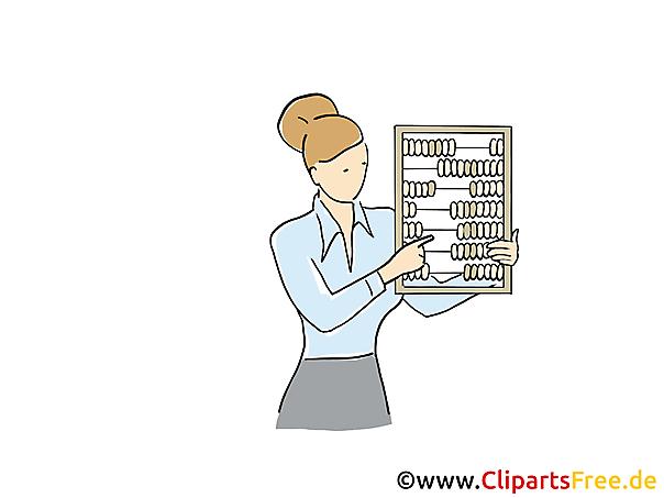 Buchhalterin Clipart, Grafik, Bild, Cartoon