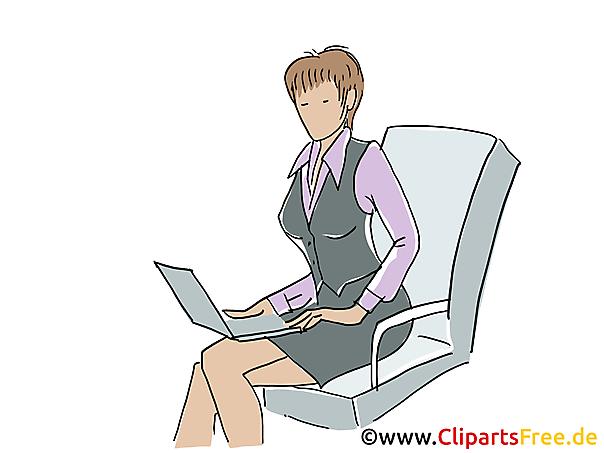 Business-Frau Clipart, Grafik, Bild, Cartoon