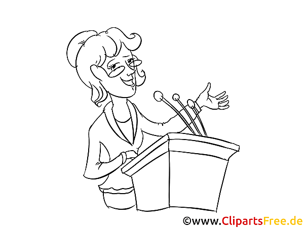 Business Conference Speaker Clipart, Pic, Image