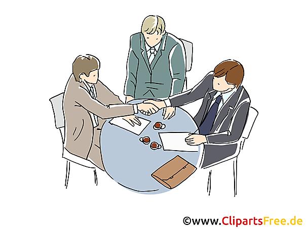 Business Meeting Clipart, Grafik, Bild