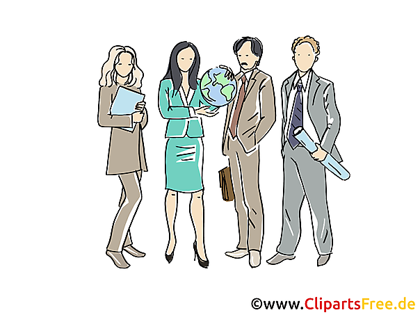 Business People, Kollektiv, Team Clipart, Bild