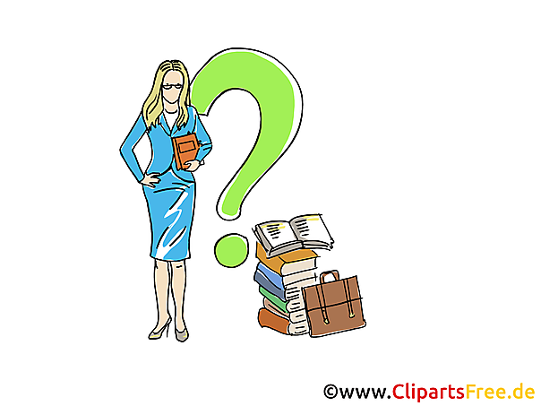Businesswoman Clipart, Grafik, Bild, Cartoon