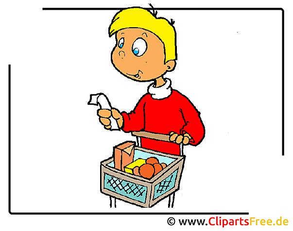 Einkaufswagen Cartoon-Bild kostenlos
