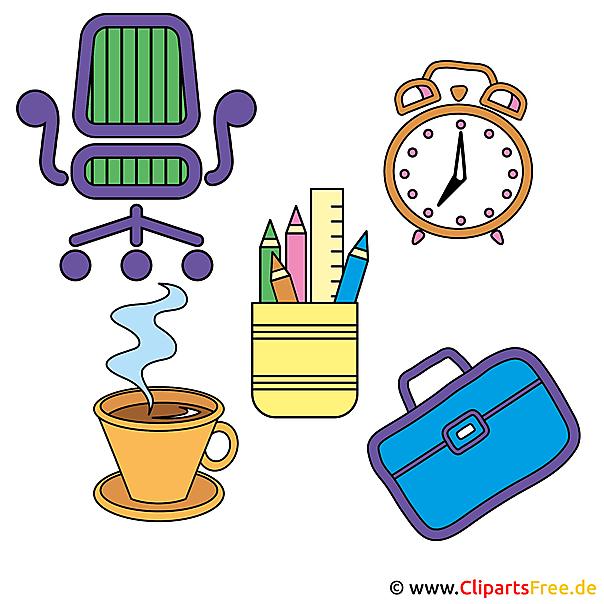 Gratis Clipart Gegenstände vom Arbeitstisch