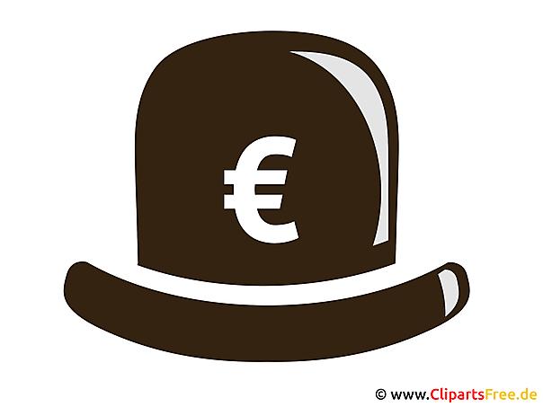 Hut mit Euro-Zeichen Bild