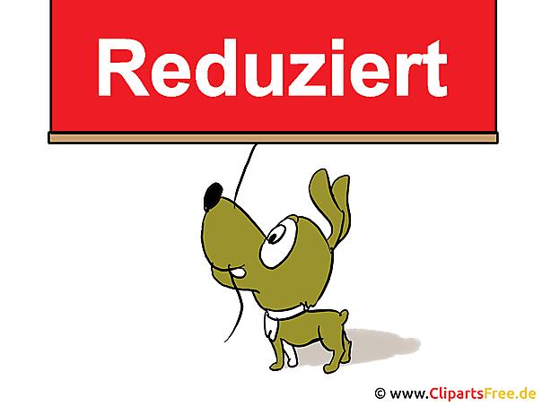 Reduziert Clipart, Bild, Cartoon, Hund, Lable