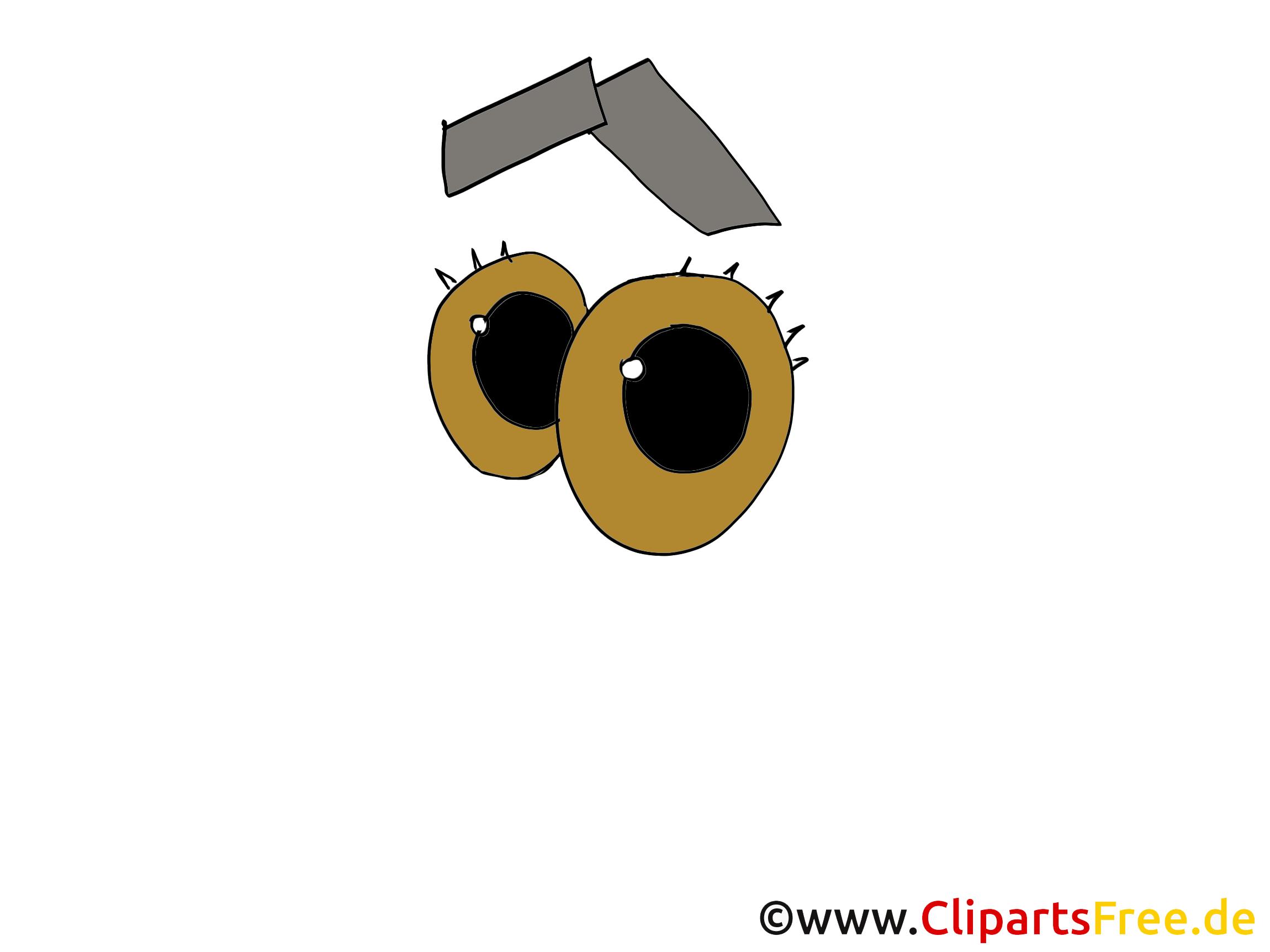 Augen Cartoonstil
