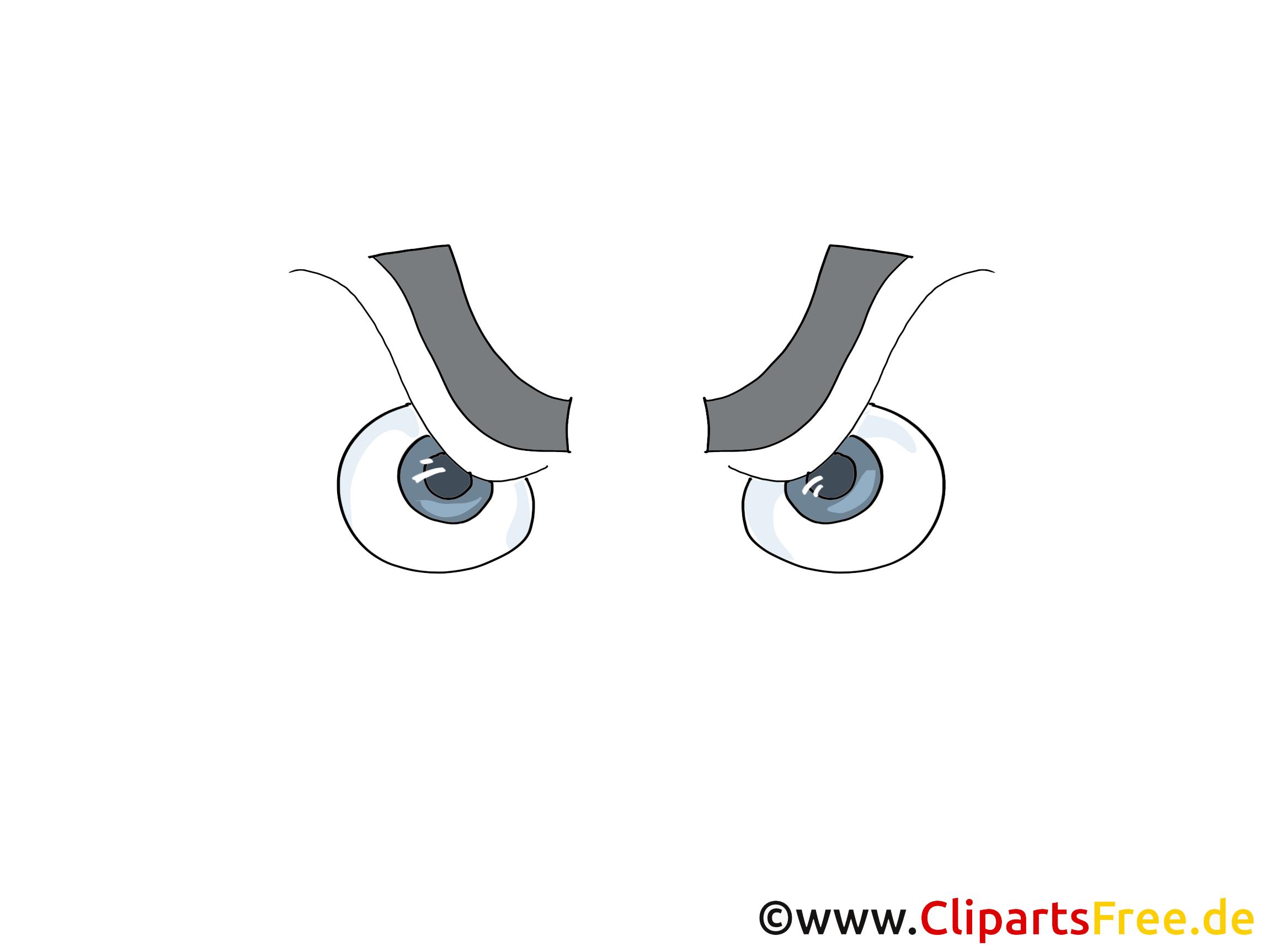 Boeser Blick Zeichnung, Comic, Cartoon