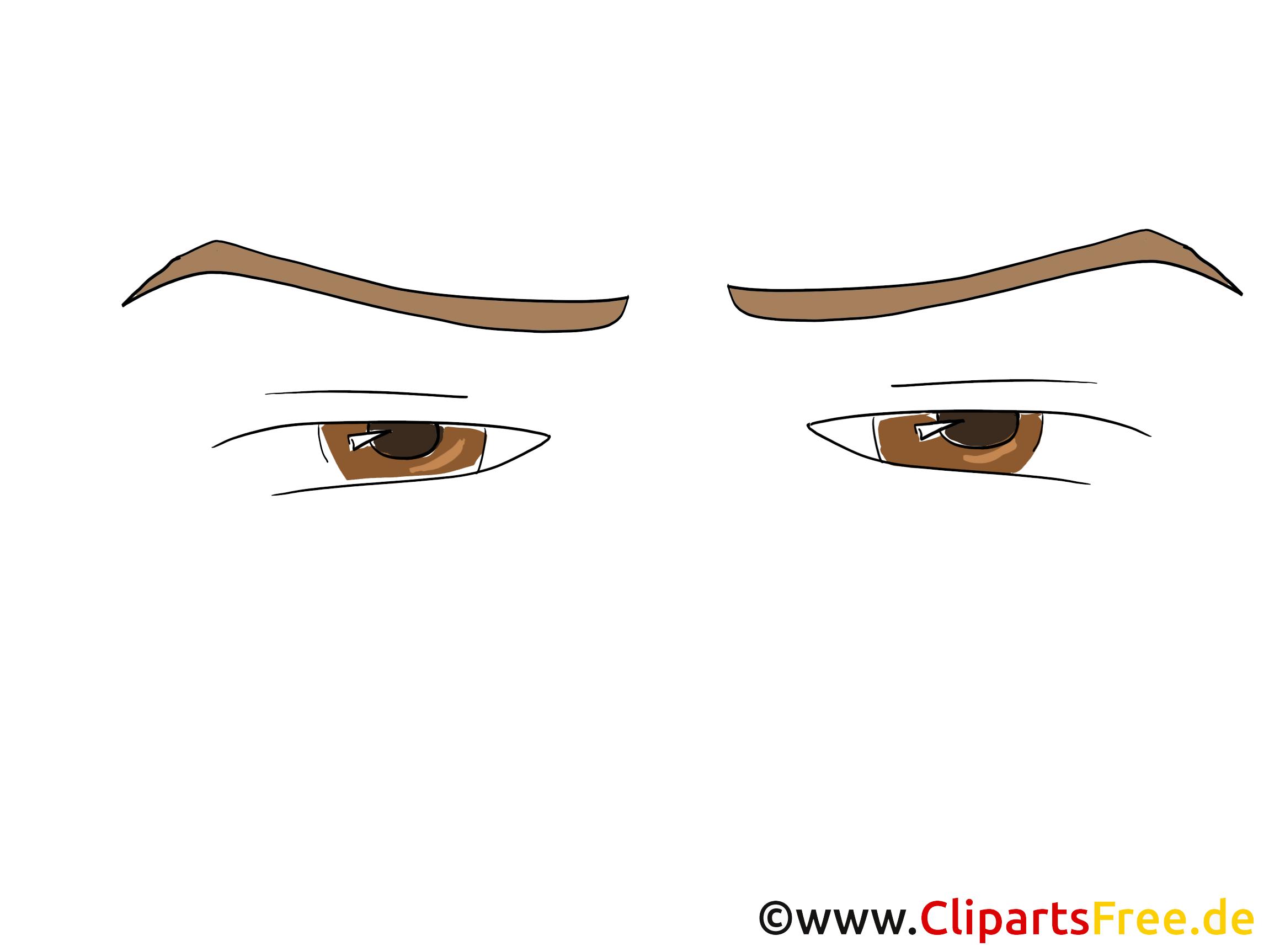 Comic Blick Clipart, Bild, Zeichnung, Grafik