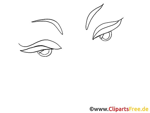 Frau Augen Clipart, Bild, Zeichnung, Grafik