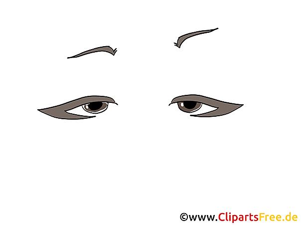 Fuchsaugen Clipart, Bild, Zeichnung, Grafik