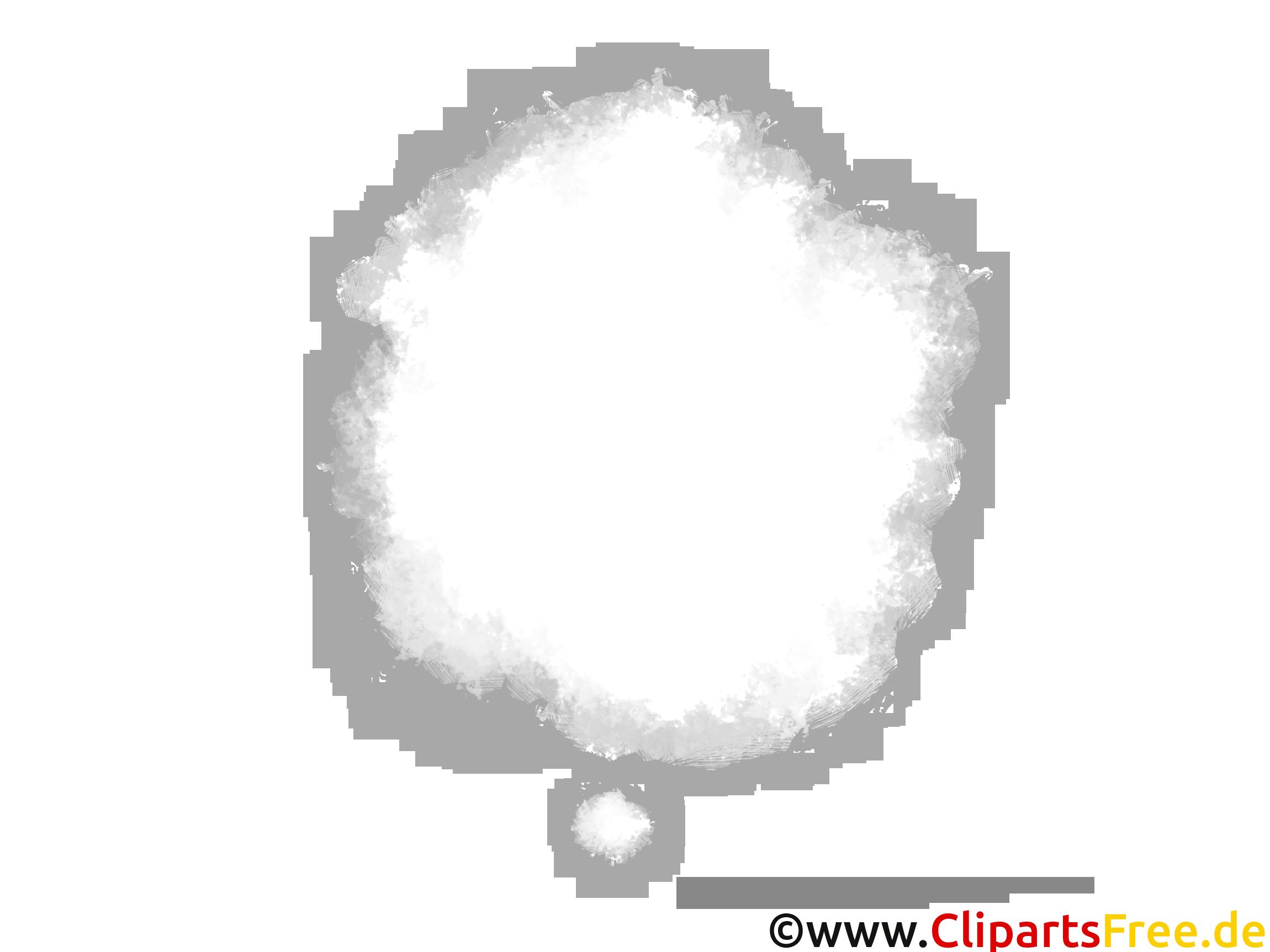 Gedanken-Sprechblase Grafik gratis