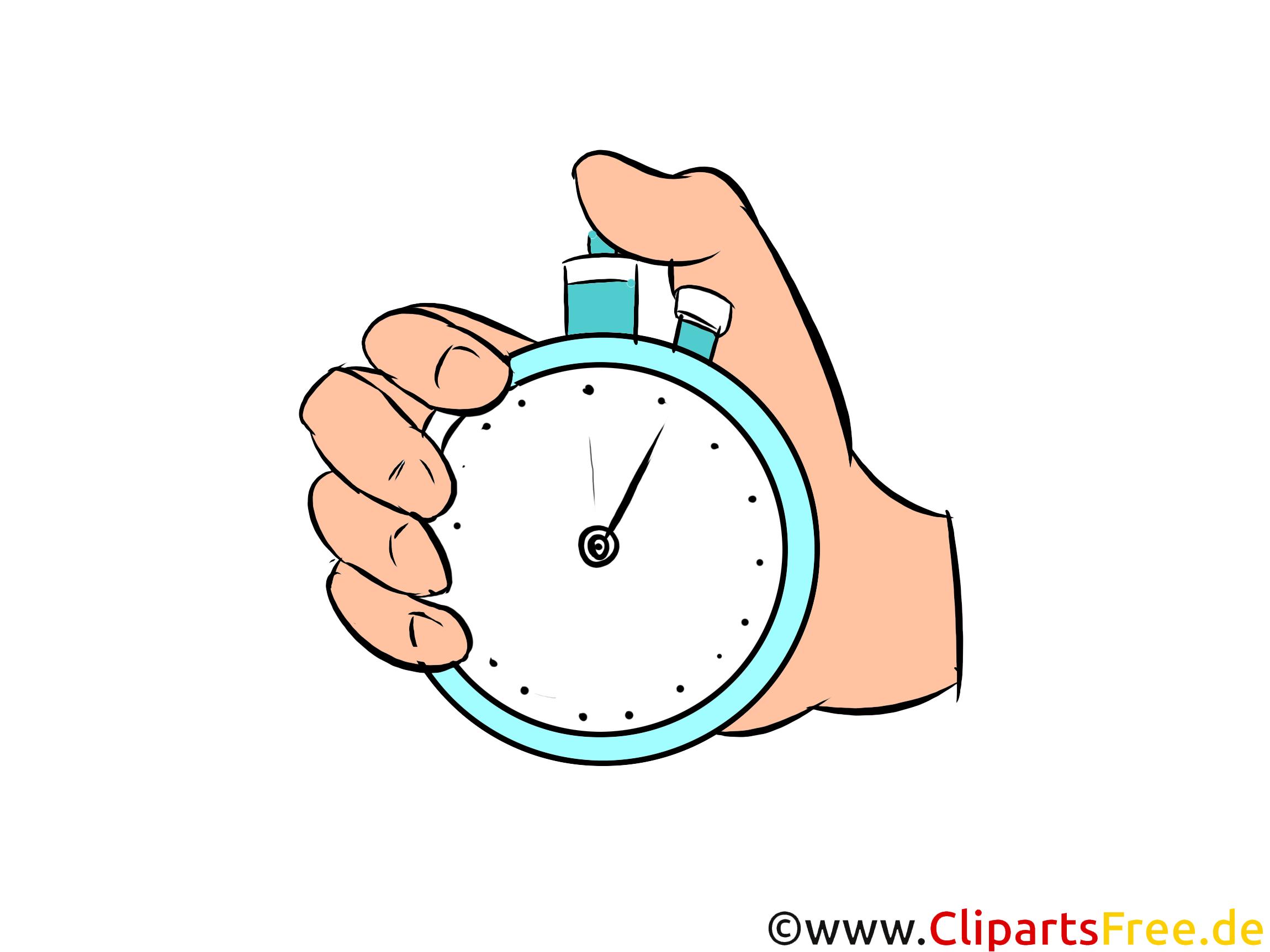 Hand mit Stoppuhr Illustration, Bild, Clipart gratis (7)