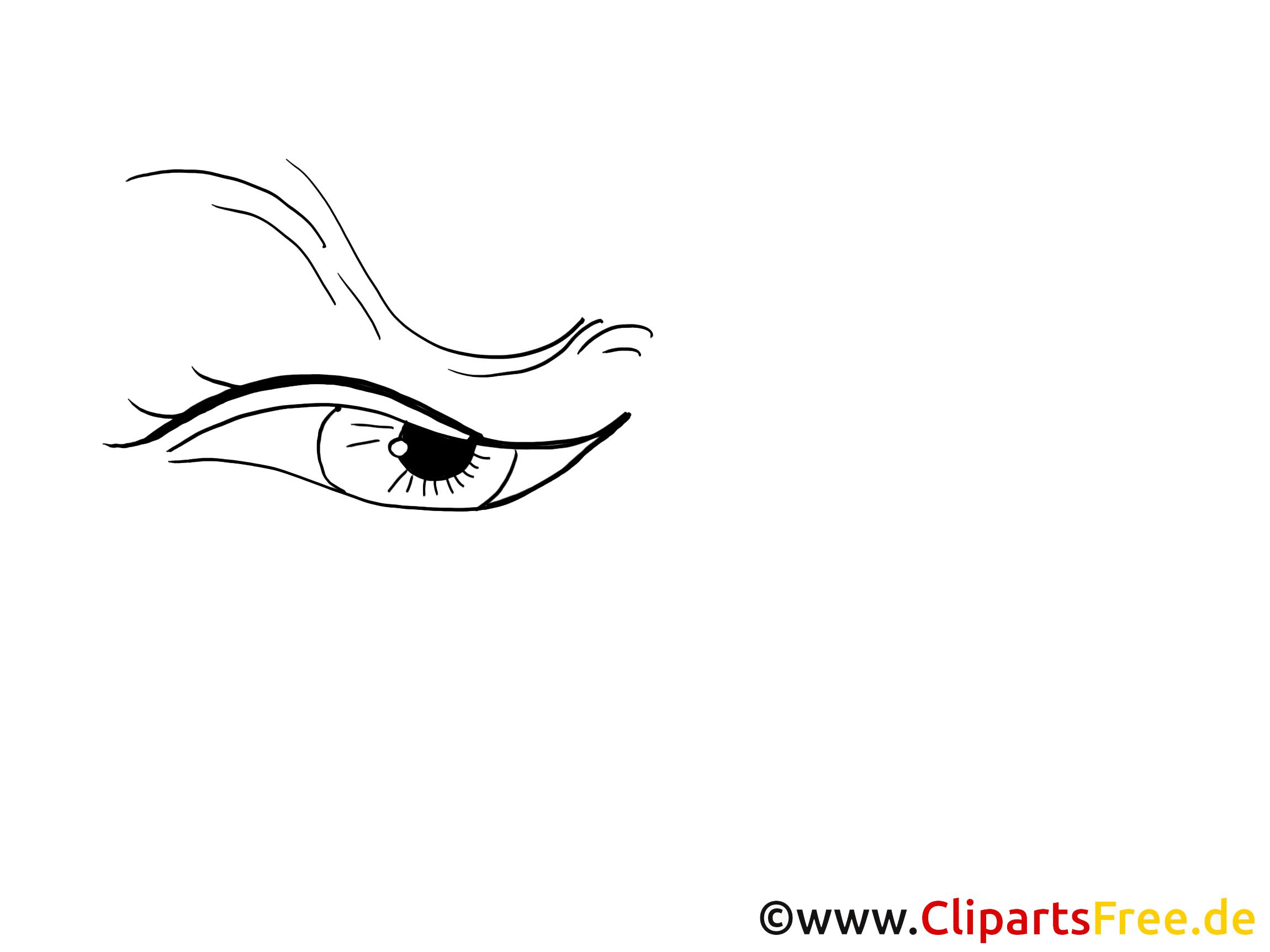 Strenger Blick Clipart, Bild, Zeichnung, Grafik