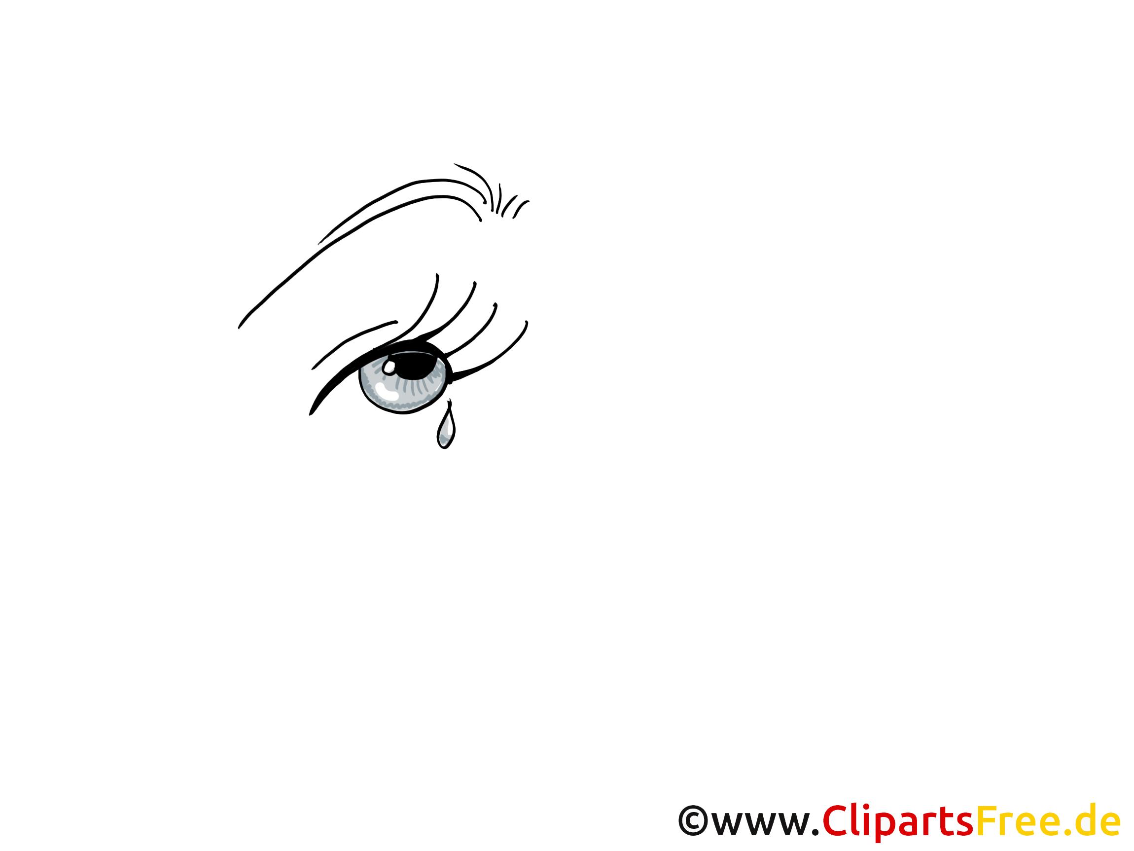 Weinende Augen Zeichnen