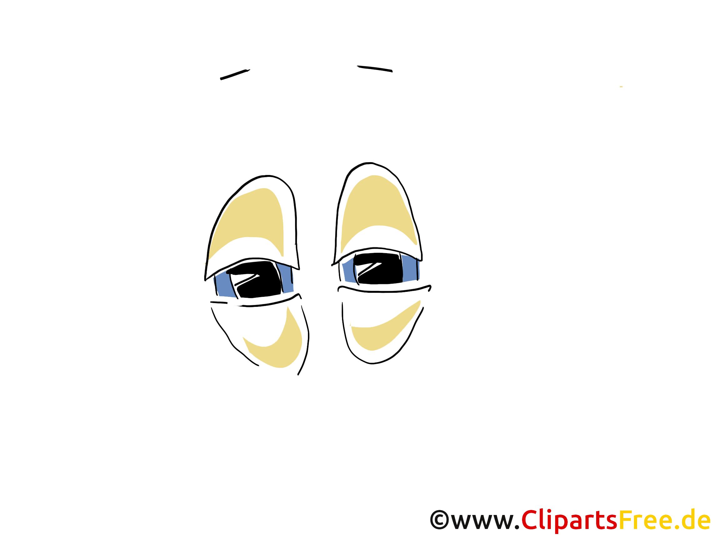 Zeichentruckfilm Augen Illustration