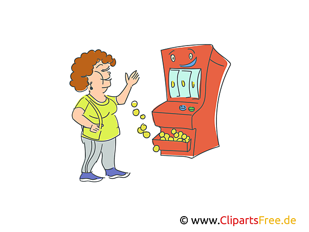 Gewinn Spielautomat Clipart, Bild, Illustration