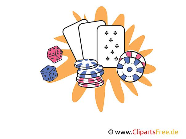 Poker online Clipart, Illustrtion, Bild