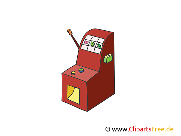Spielautomat Illustration, Bild, Clipart Kasino