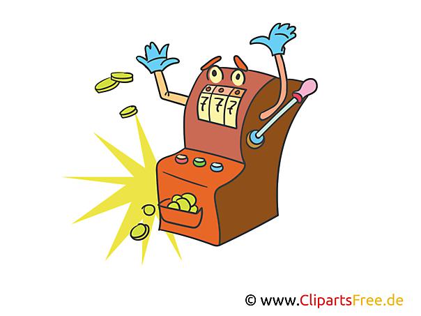 Spielautomat in Casino Clipart, Bild, Illustration