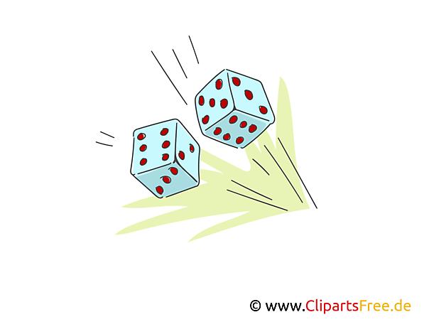 Spielwürfel Clipart, Illustration, Bild