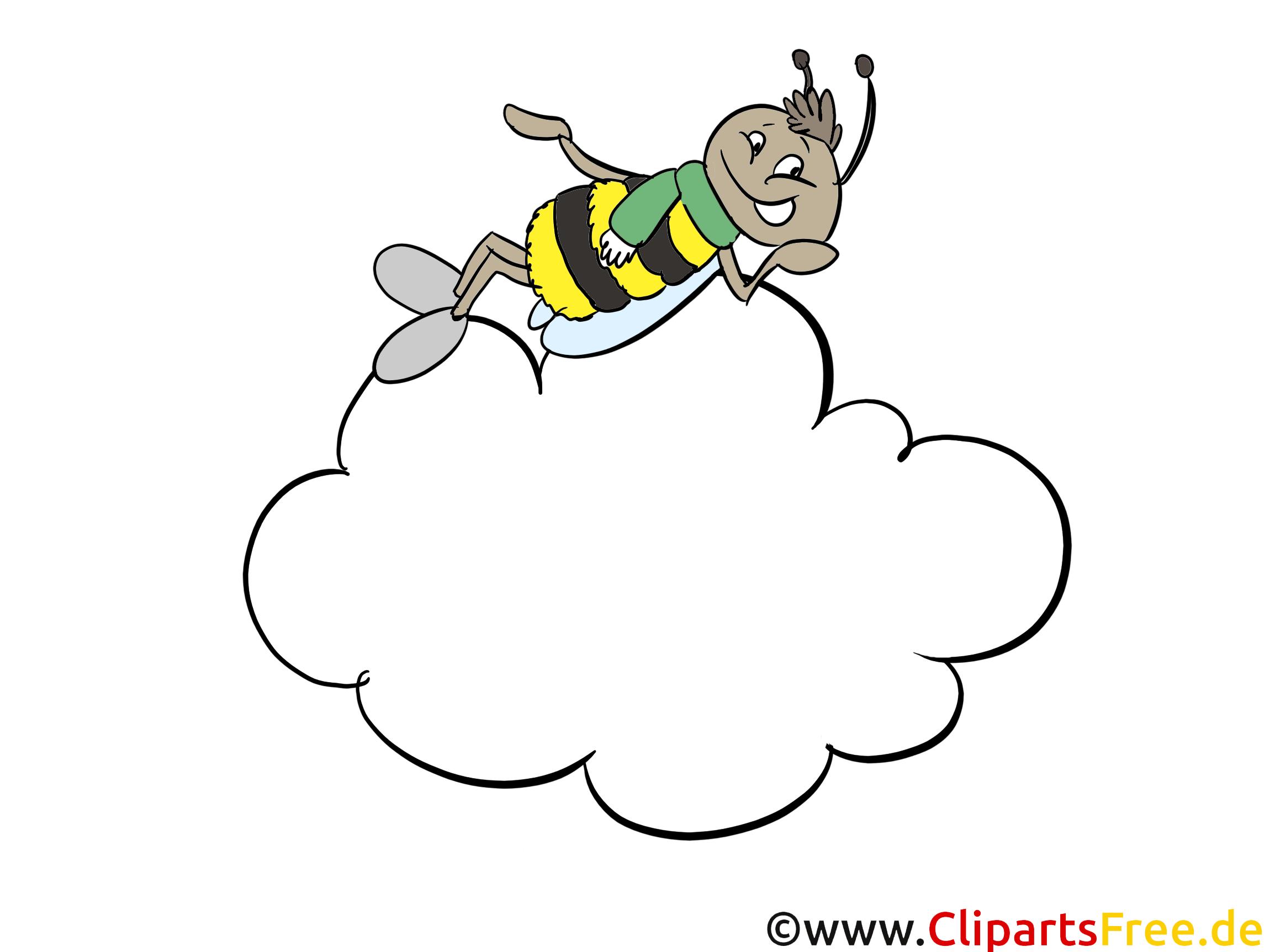 Bij op 7 cloud clipart, cartoon, foto, artwork