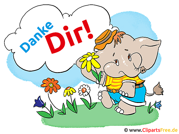 Danke Dir Karte, Clipart, Cartoon, Illustration