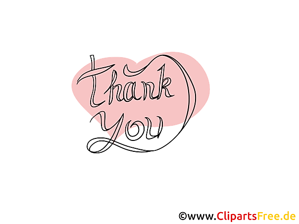 Gratis Clip Art Thank you - Danke