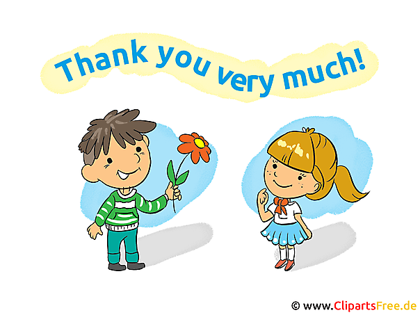 Thank you images, cards, cartoons, cliparts