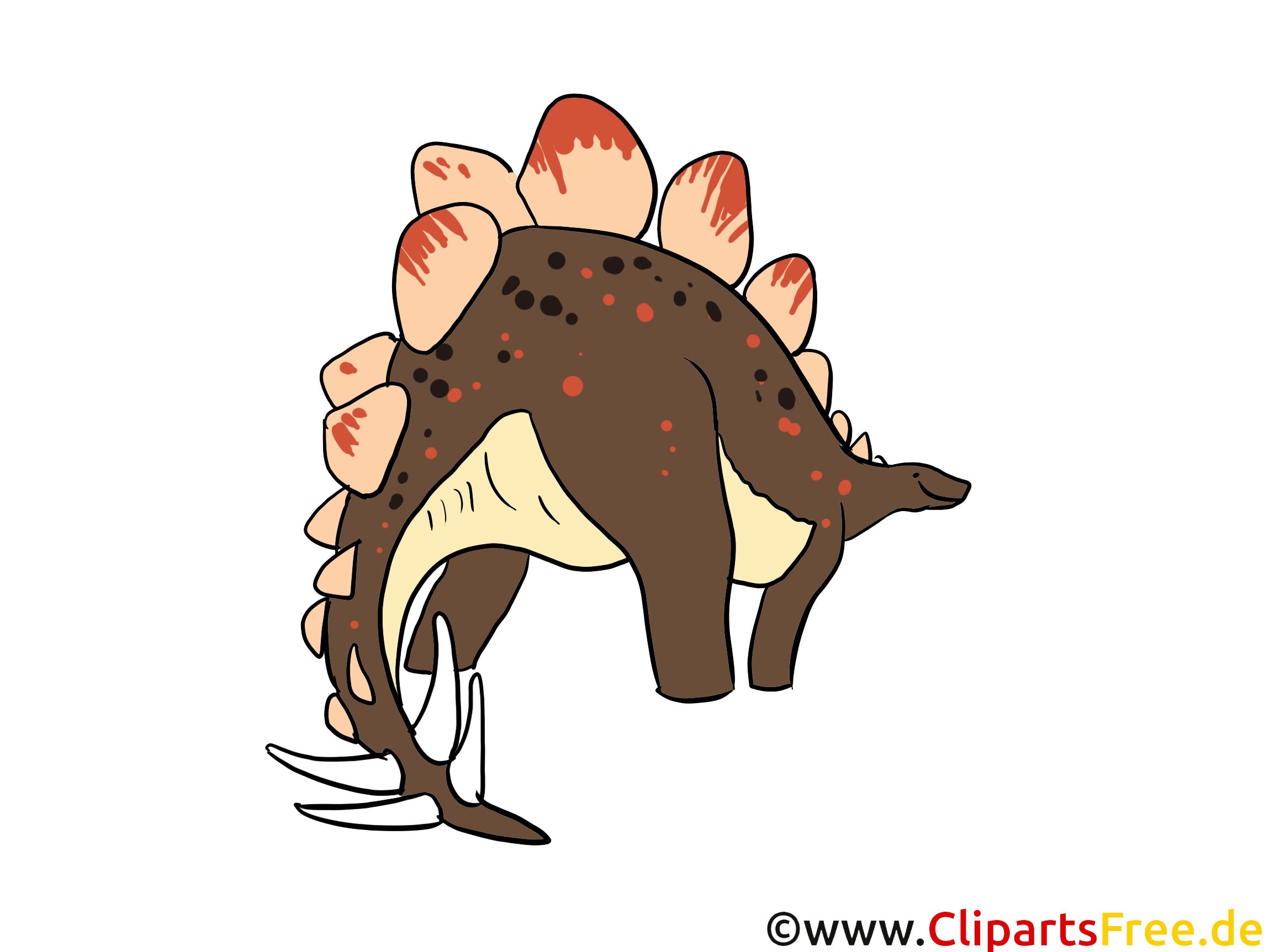 Stegosaurus Bild - Dinosaurierarten Bilder, Cartoons, Illustrationen gratis