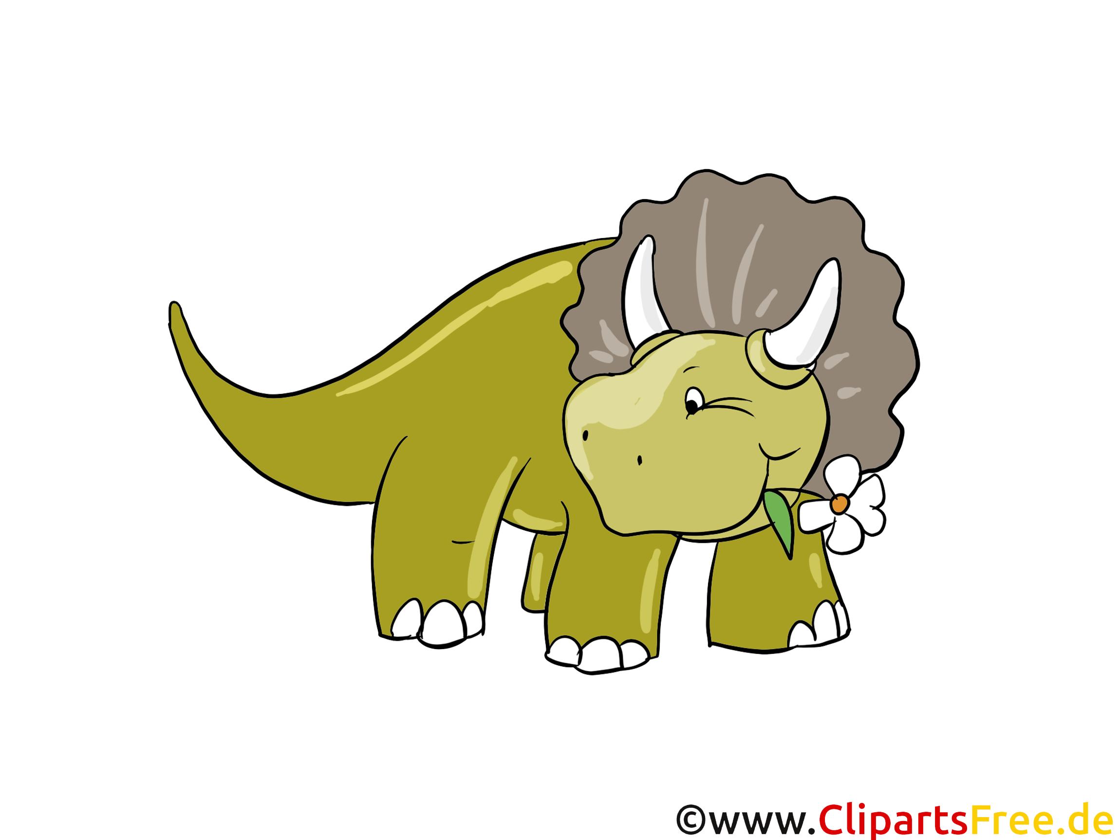 Triceratops-afbeelding - afbeeldingen van dinosaurussen, cartoons, gratis illustraties