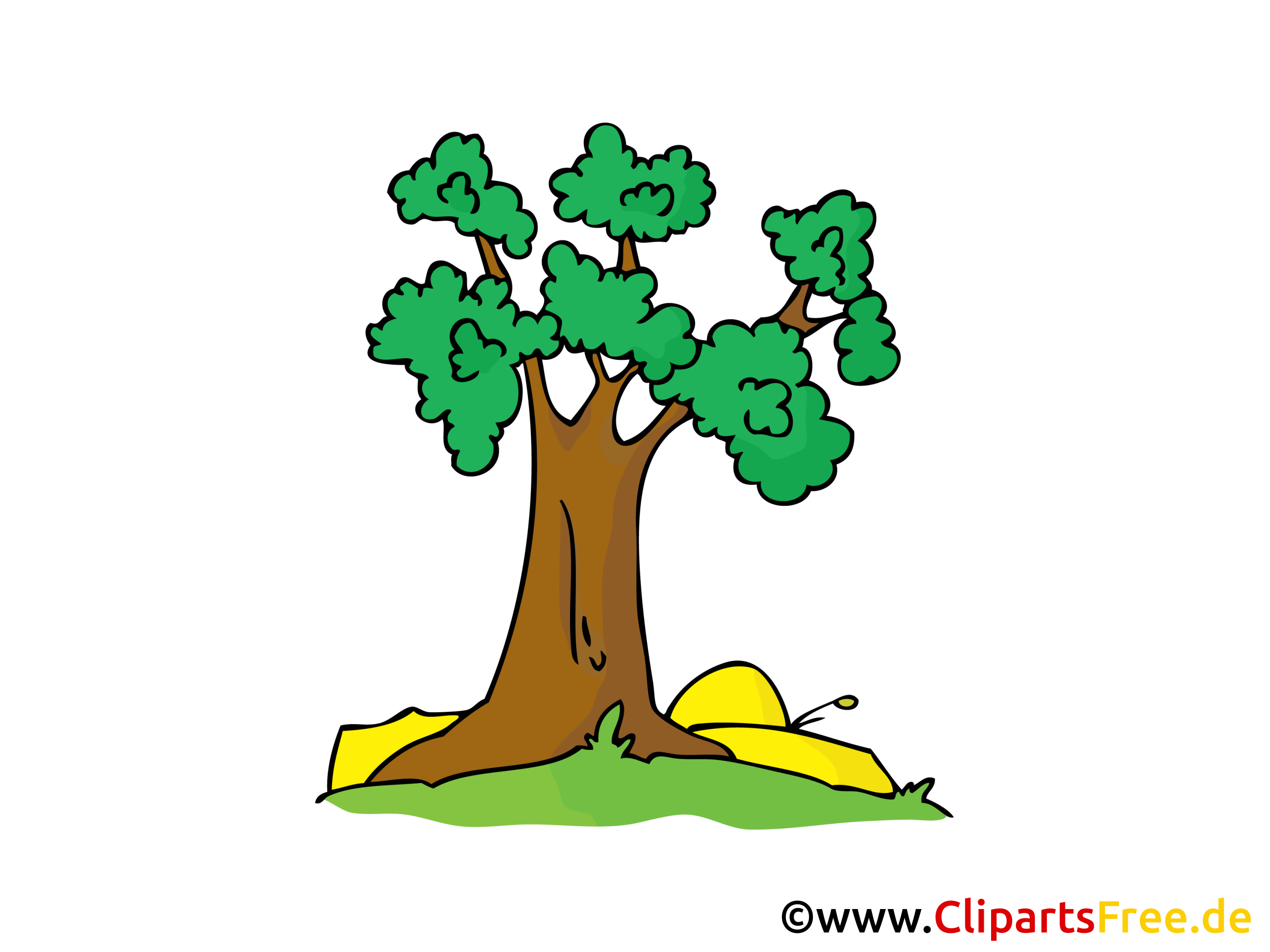 Baum Bild, Clipart, Illustration, Comic, Cartoon gratis