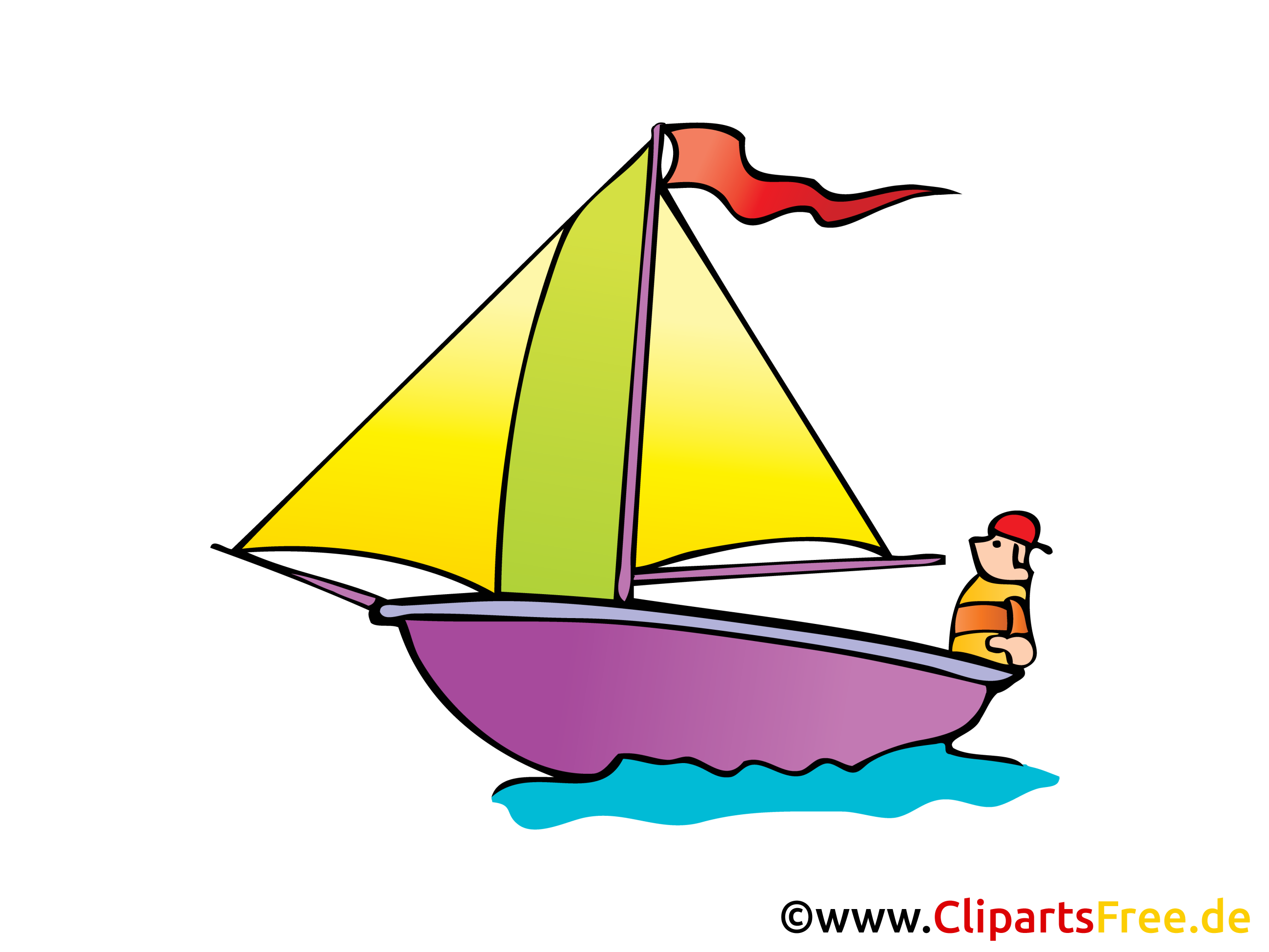 Segelschiff Bild, Clipart, Illustration, Comic, Cartoon gratis