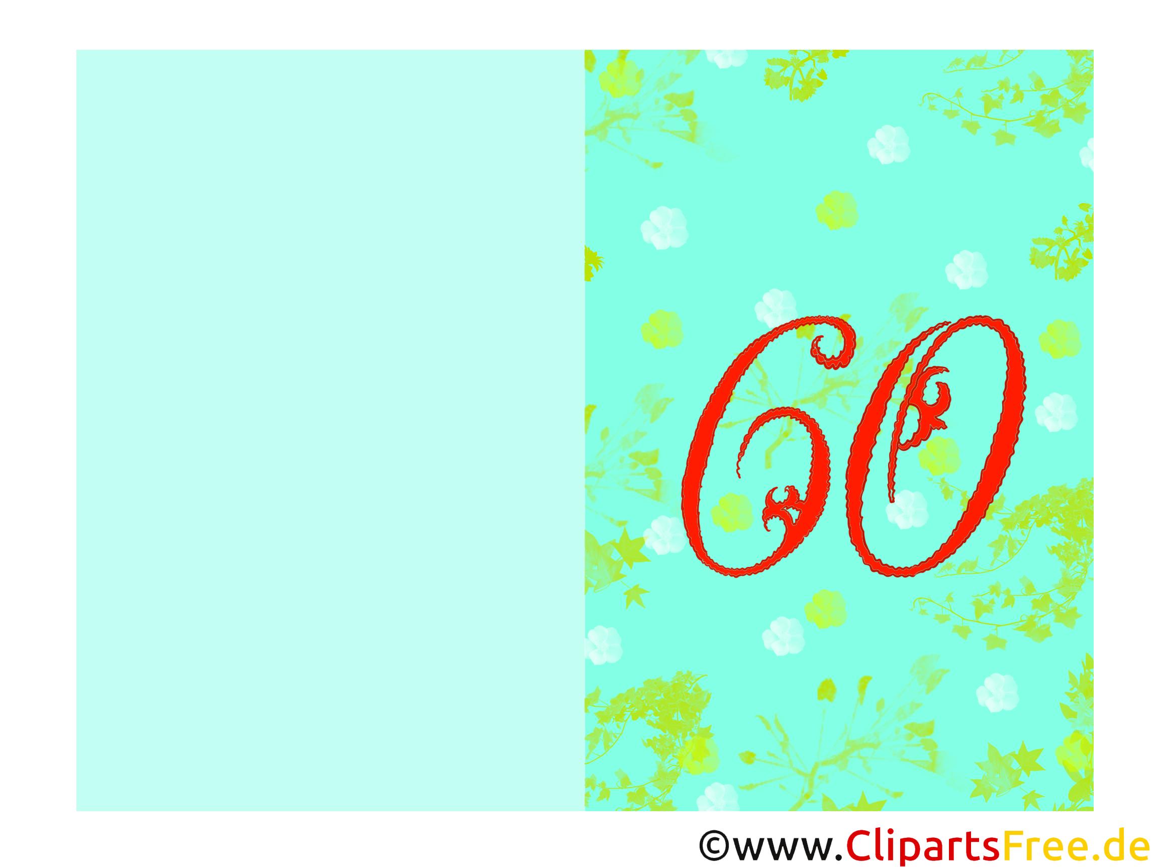 Einladungskarten 60. Geburtstag