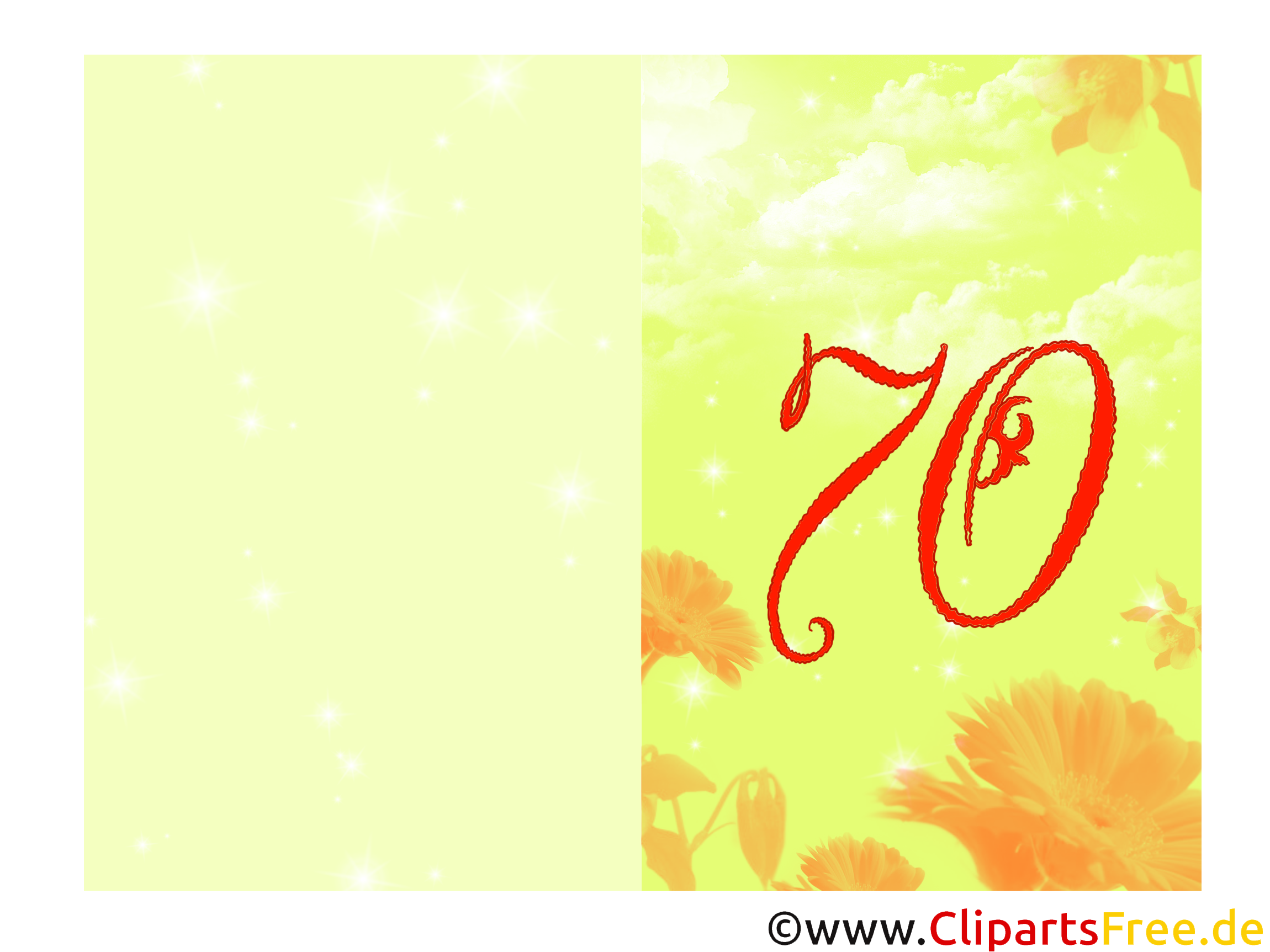 Glückwünsche zum 30. Geburtstag drucken