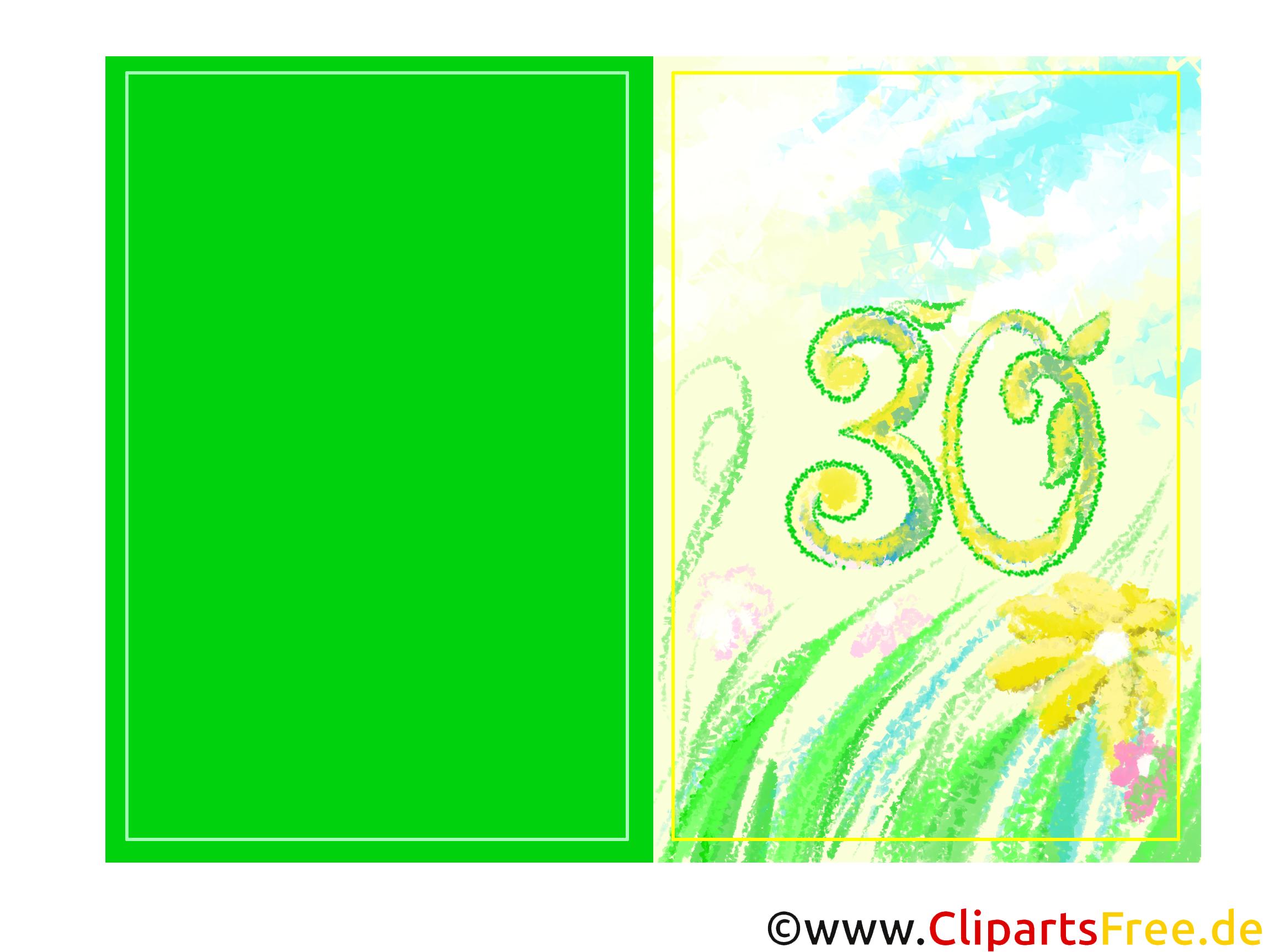 Glückwunschkarte 30 Jahre drucken online