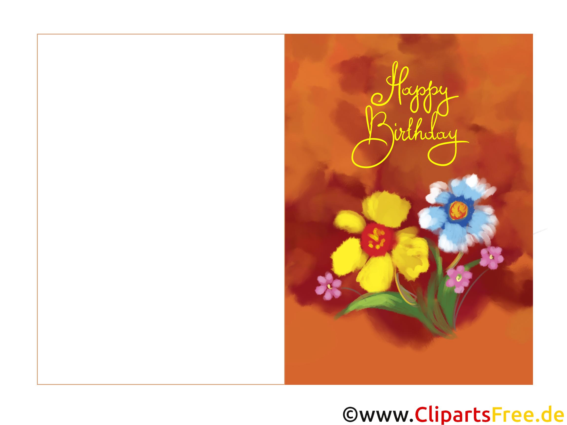 Elektronische Geburtstagskarte kostenlos zum Runterladen und Drucken