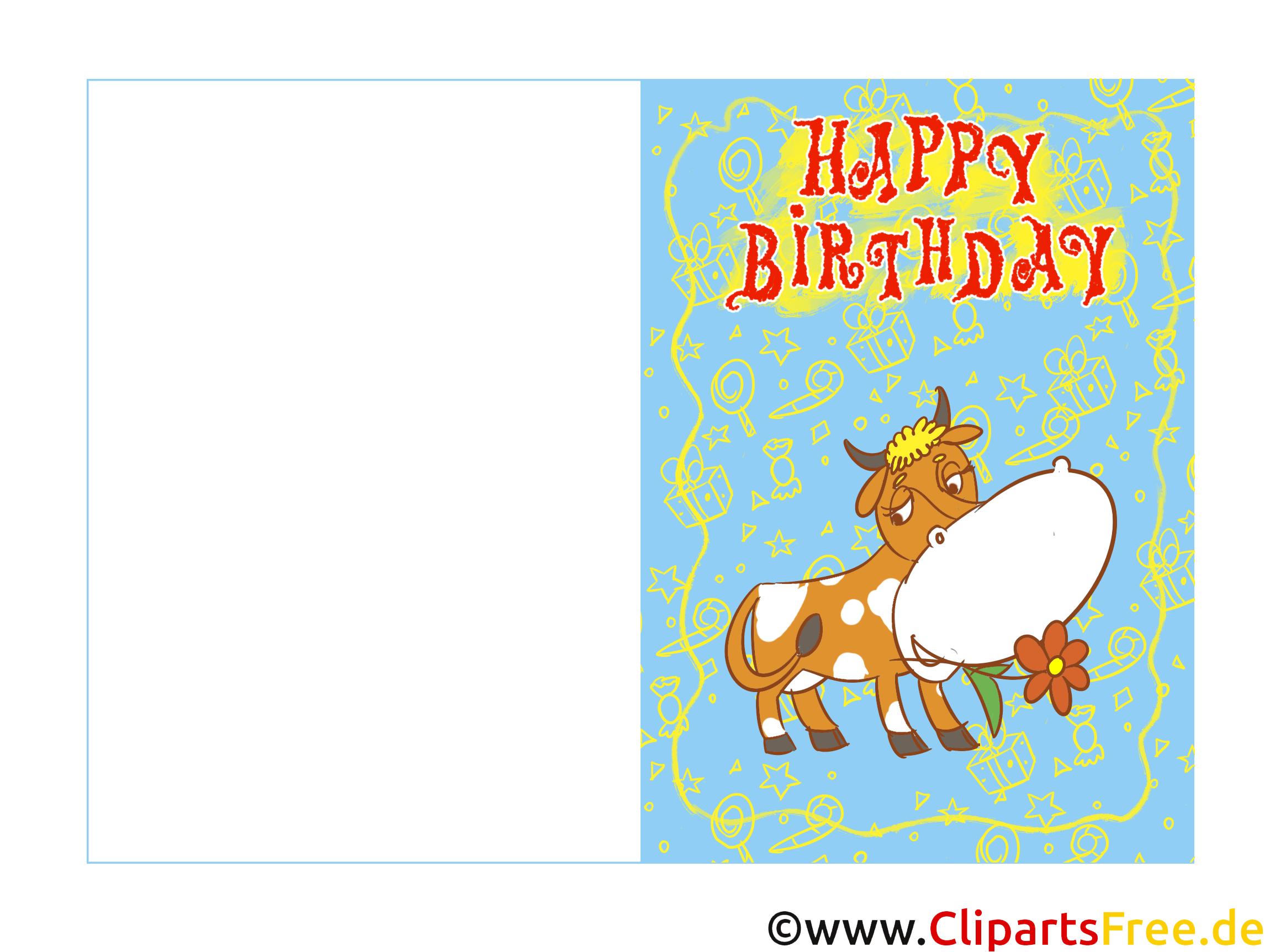 Geburtstagskarten Ecards zum selbst Drucken zum Kindergeburtstag