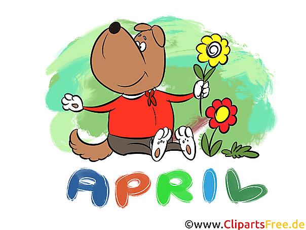 April Clipart - Monate kostenlose Bilder zum Drucken