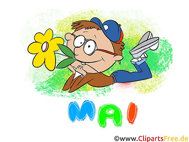 Mai Clipart - Monate kostenlose Bilder zum Drucken