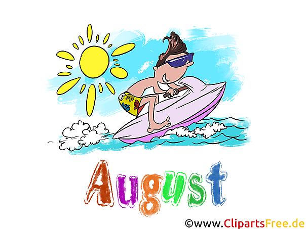 August Illustration - Month Clip Art free