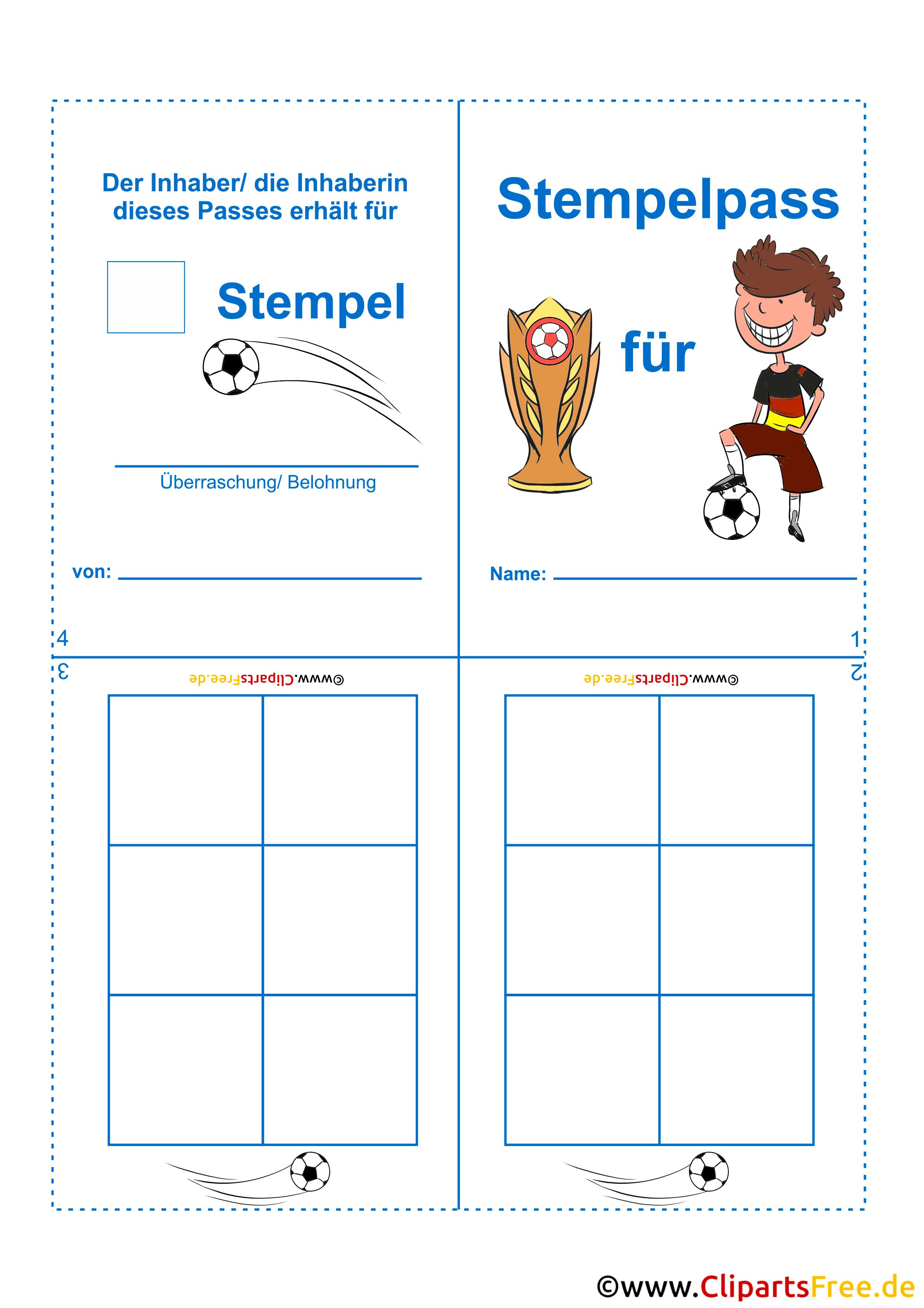 stempelkarte vorlage für kinder